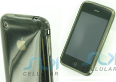 Black Transparent Gel Case